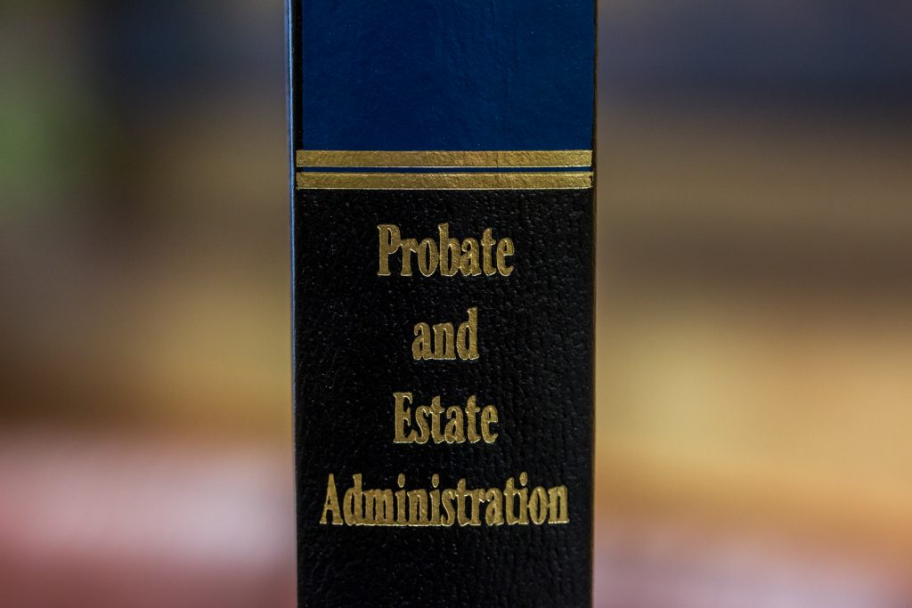 A photo of probate and estate admin law book
