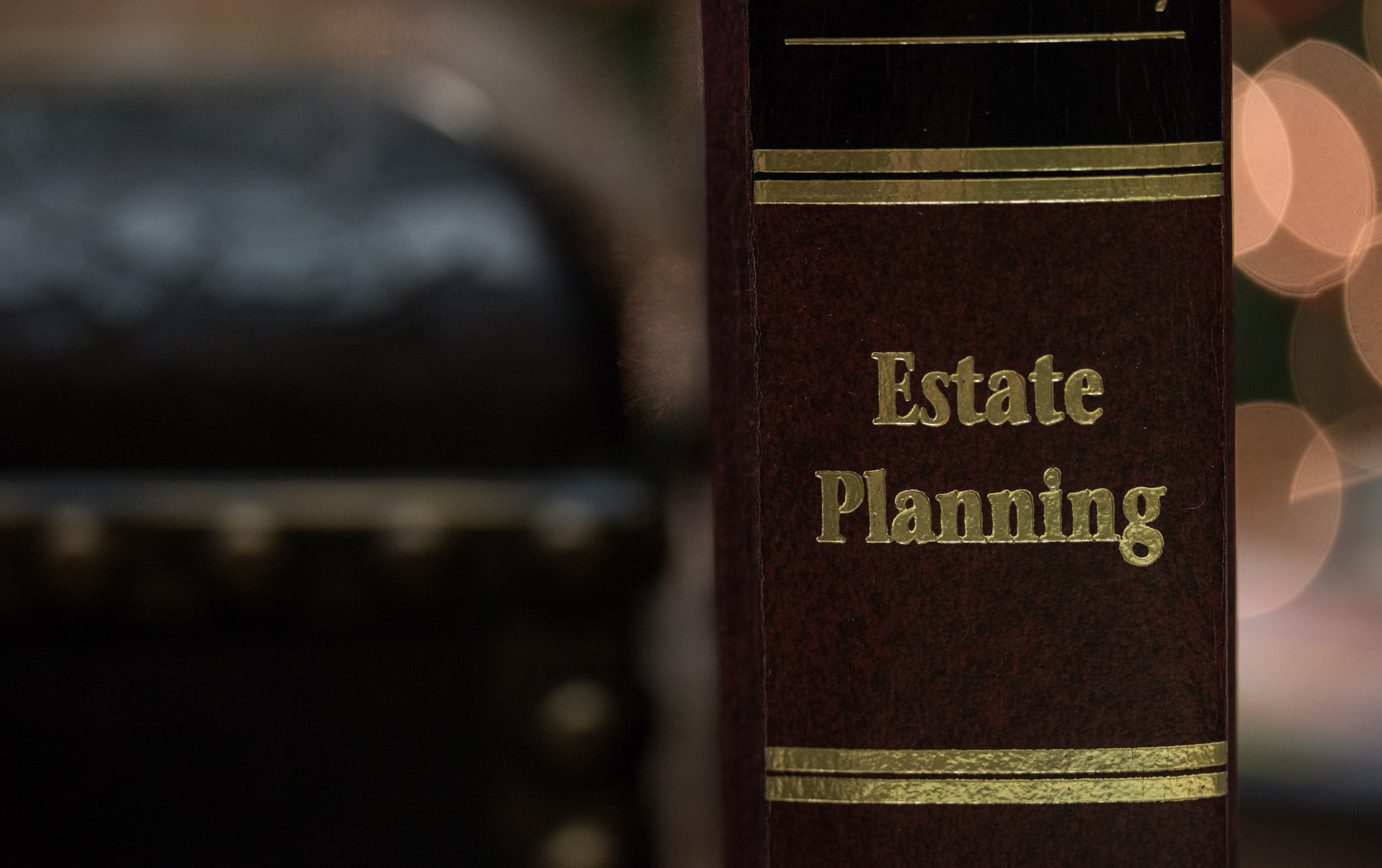 A photo of estate planning law book