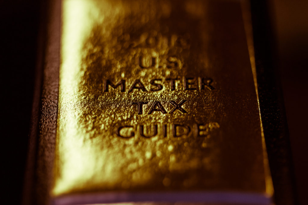 A photo of the US Tax Guide Book