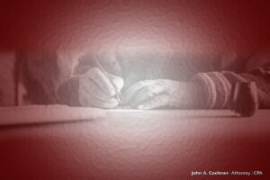What makes a good executor? An image of two hands signing a will document.
